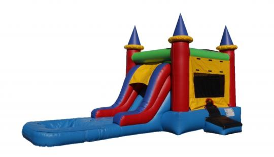inflatable castle waterslide